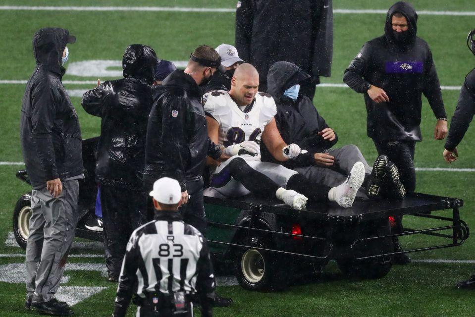 Nick Boyle Ravens Injury