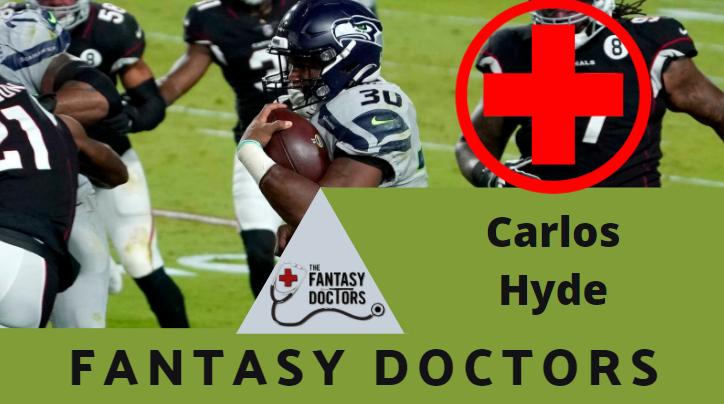 Carlos Hyde Seahawks Fantasy Doctors Injury Update