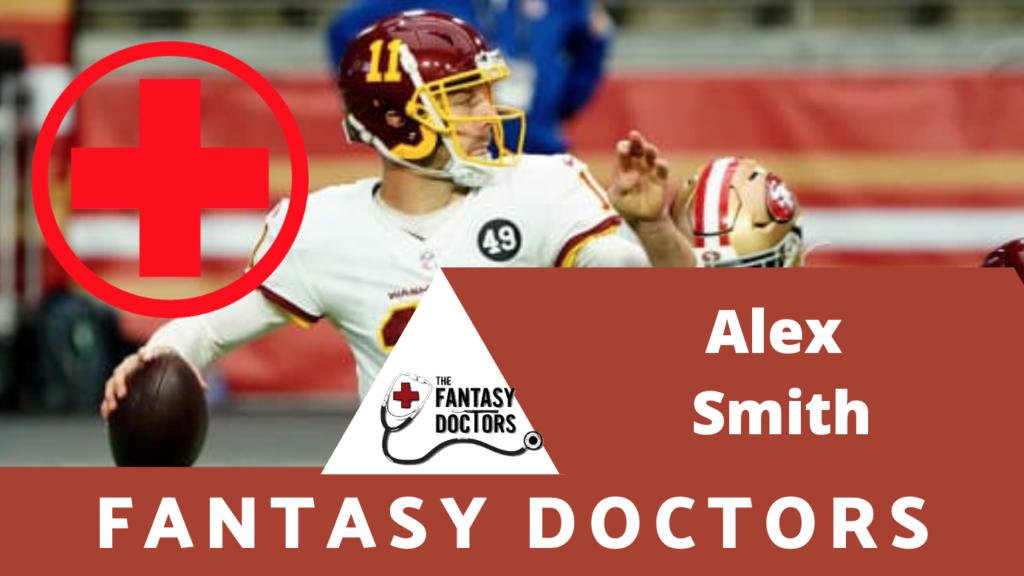Alex Smith Fantasy Doctors INjury Update