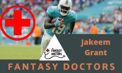 Jakeem Grant Dolphins INjury Update Fantasy Doctors