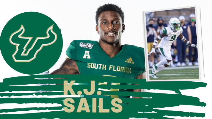 K.J. Sails USF Bulls Cornerback 2021 NFL Draft
