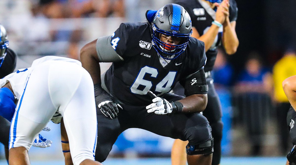 Meet 2021 NFL Draft Prospect Robert Jones, OL, Middle Tennessee State