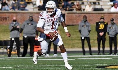 Arkansas QB K.J. Jefferson quarterback battle
