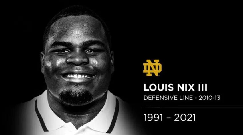 Louis Nix III Notre Dame Rest In Peace