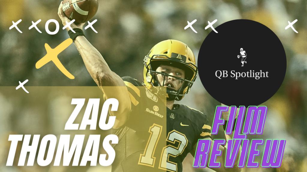 Zac Thomas App State NFL Draft Review