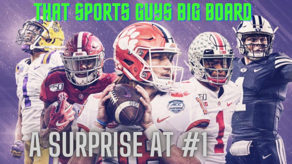 NFL Draft Big Board That Sports Guy