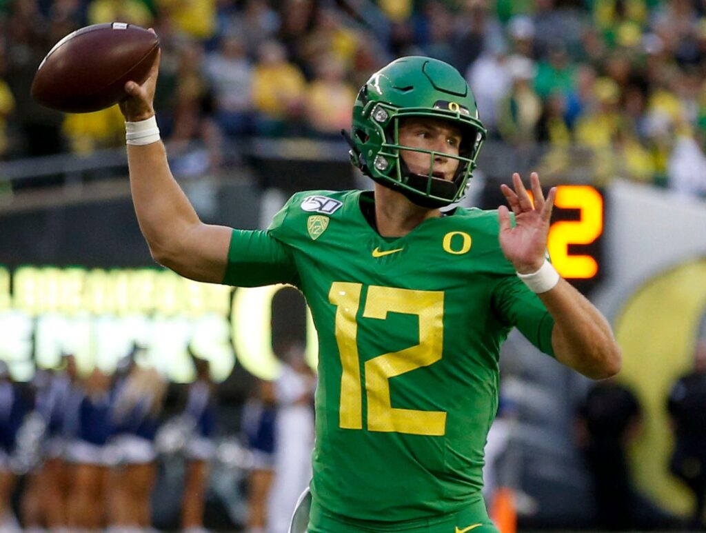 Tyler Shough the former Oregon QB has a new home at Texas Tech