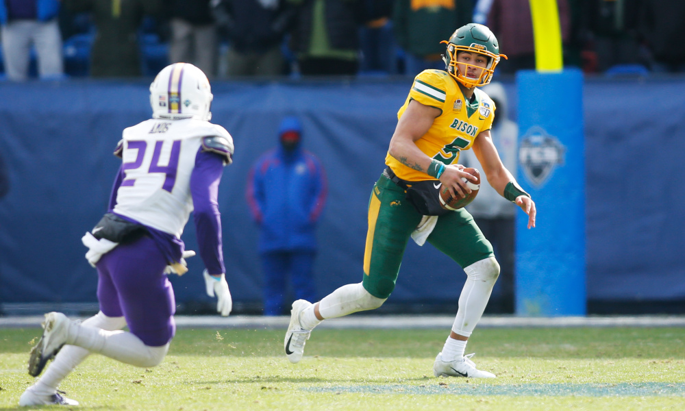 Trey Lance NDSU Dolphins trading out