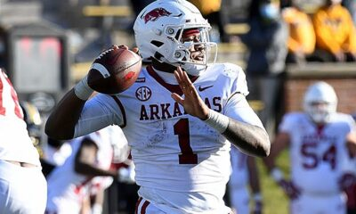 KJ Jefferson Arkansas Fooball Spring Game film