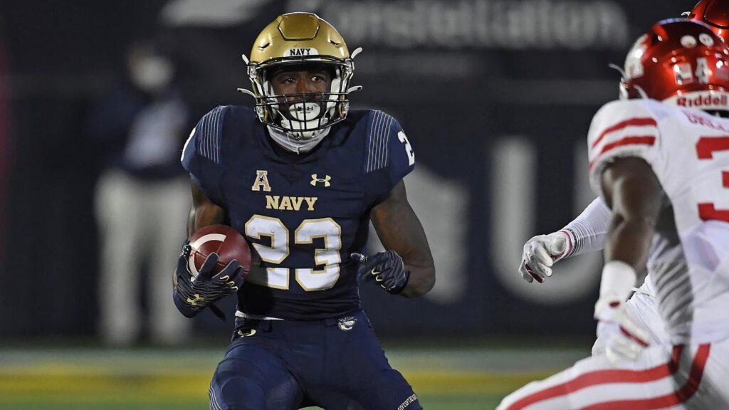 Myles Fells NFL Navy 2021 NFL draft