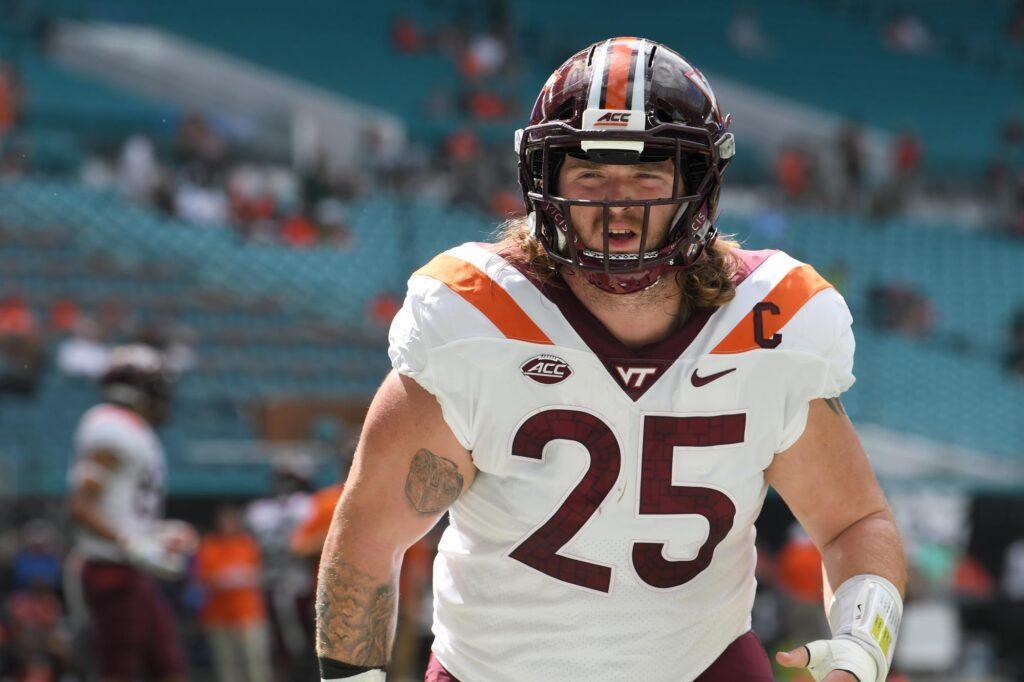 Jarrod Hewitt Virginia Tech Hokies NFL Draft