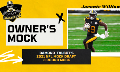 Javonte Williams Steelers Edit NFL Draft Diamonds Owner Mock Draft