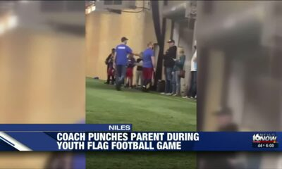 Irate flag football coach snaps and punches a parent in front of all the kids in Michigan