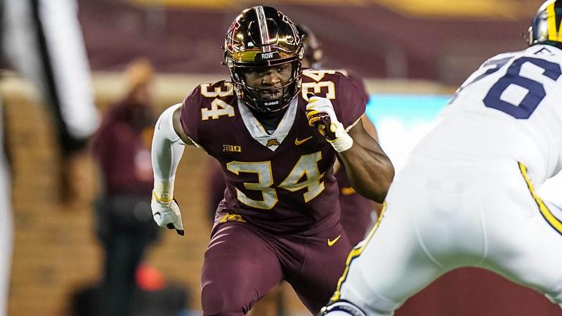 Boye Mafe Minnesota Gophers 2022 NFL Draft