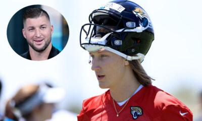 Tim Tebow Trevor Lawrence NFL Jaguars