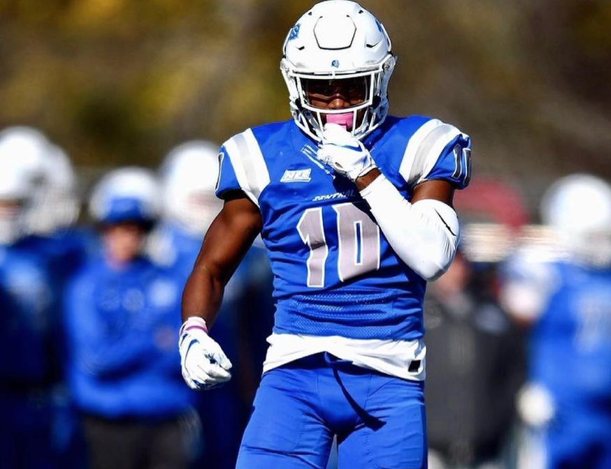 Central Connecticut State University's standout cornerback Dexter Lawson Jr.