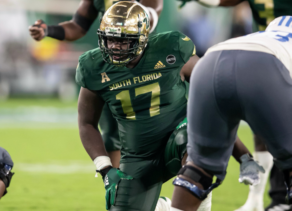 University of South Florida defensive lineman Blake Green