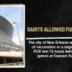 Saints vaccination policy