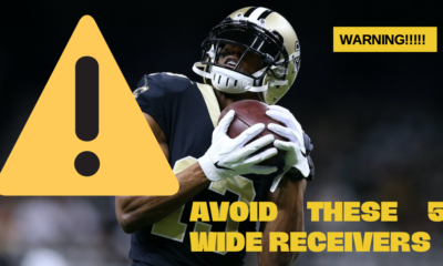 This year in Fantasy Football I am going to personally avoid these five receivers. Here is why, who are you avoiding?