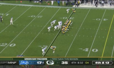 Did the Detroit Lions give up against the Packers