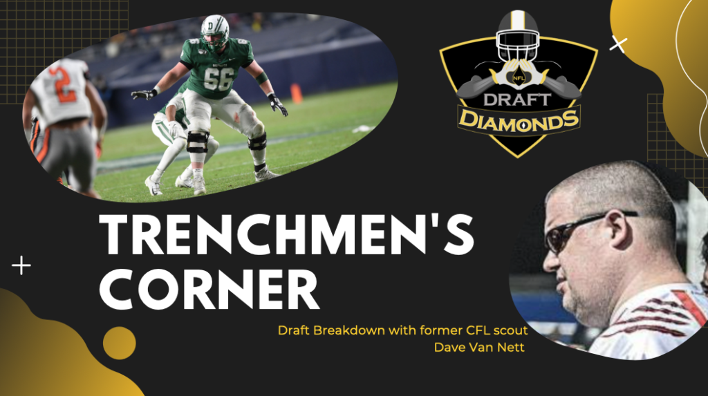 Dartmouth offensive lineman Calvin Atkeson is a player that former CFL scout Dave Van Nett is high on. Check out his Trenchmen's Corner.