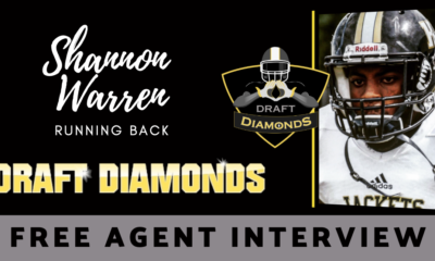 Free Agent running back Shannon Waren recently sat down with NFL Draft Diamonds writer Justin Berendzen. Check out this exclusive interview.