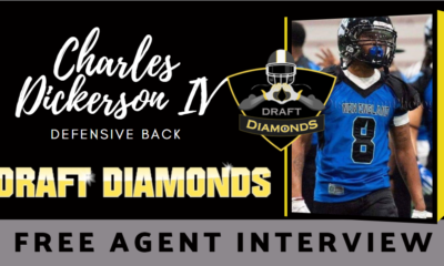 Charles Dickerson IV the sound free agent Defensive Back recently sat down with NFL Draft Diamonds writer Justin Berendzen.