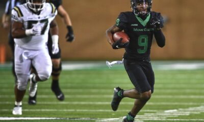 Star North Texas wide receiver Deonte Simpson dismissed from the football team after striking his girlfriend and hospitalizing her.