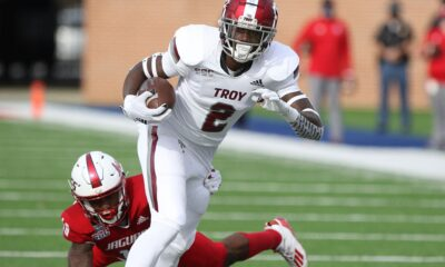 Troy wide receiver Reginald Todd was arrested for first-degree hindering prosecution and second-degree possession of marijuana.