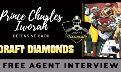 Prince Charles Iworah the free agent Defensive Back was recently at the HUB Football camp and he blew up! He sat down with Justin Berendzen.