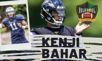 Kenji Bahar the athletic quarterback who has spent time on the Baltimore Ravens and a star quarterback from Monmouth